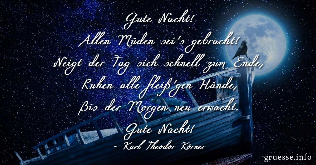 Gute Nacht Sprüche - Bilder, Sprüche & Grüße - Grüße.info