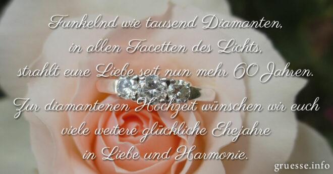 Gluckwunsche Diamantene Hochzeit