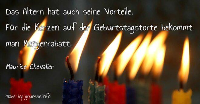 Geburtstagskerzen - Lustiges Zitat zum Geburtstag