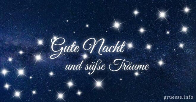 Gute Nacht und süße Träume.