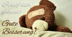 Schlaf dich gesund! Gute Besserung!