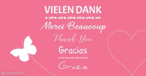 Vielen Dank - Merci Beaucoup - Thank You