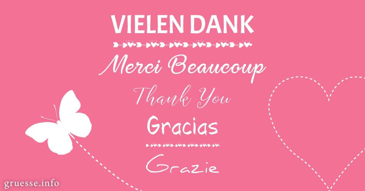 Vielen Dank - Merci Beaucoup - Thank You
